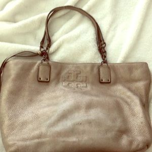 Tory Burch silver purse